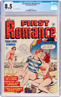 Golden Age (1938-1955):Romance, First Romance #1 (Harvey, 1949) CGC VF+ 8.5 Light tan to off-whitepages....