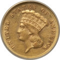 Three Dollar Gold Pieces, 1872 $3 -- Scratched, Cleaned -- ANACS. AU58 Details. NGC Census:(70/38). PCGS Population: (45/37). CDN: $3,250 Whsle. Bid...
