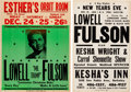 Music Memorabilia:Posters, Lowell Fulson - Two Vintage Concert Posters. ... (Total: 2 Items)