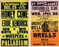 Music Memorabilia:Posters, Honey Cone/Archie Bell & The Drells - Two Vintage Concert Posters (circa Late-1960s-1970s). ... (Total: 2 Items)