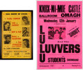 Music Memorabilia:Posters, Lulu and the Luvvers/Freddy Cannon - Two Vintage Concert Posters (circa Late-1950s - 1960s). ... (Total: 2 Items)