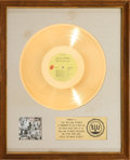 Music Memorabilia:Awards, Rolling Stones Exile on Main Street RIAA Gold Record AwardPresented to the Artist (Rolling Stones Records COC 2-2...