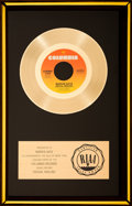 "Music Memorabilia:Awards, Marvin Gaye ""Sexual Healing"" RIAA Gold Record Sales Award Presented to Him (1982)...."