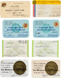 Movie/TV Memorabilia:Documents, A James Cagney Group of ID Cards, 1940s-1970s....