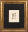 Music Memorabilia:Original Art, Grateful Dead - Jerry Garcia Small Limited Edition Print Titled'How Fine,' 1994....