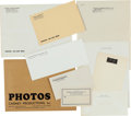 Movie/TV Memorabilia:Documents, A James Cagney Collection of Unused Stationery, 1940s-1960s....(Total: 2 Items)