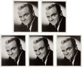 Movie/TV Memorabilia:Autographs and Signed Items, A James Cagney Group of Signed B&W Photographs, Circa 1960....