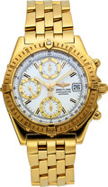 Timepieces, Breitling 18k Gold Chronomat Automatic K13352, Full Set Box & Papers. ...