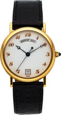 "Timepieces:Wristwatch, Breguet Ref. 3325 ""Classique"" Gold Automatic With Porcelain Dial. ..."