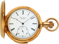 Jules Jurgensen Gold Five Minute Repeater, Bow Set, Original Box, Papers & Gold Chain
