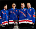 Hockey Collectibles:Photos, New York Rangers Legends Multi Signed Oversized Photograph.. ...