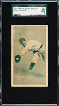 Baseball Cards:Singles (Pre-1930), 1911 D310 Pacific Coast Biscuit Buck Weaver SGC 30 Good 2. ...