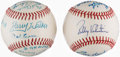 Autographs:Baseballs, Multi-Signed Baseball Lot of 2: 1989 Texas Rangers. ...