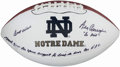 "Autographs:Footballs, Ara Parseghian ""Go Irish"" Signed Notre Dame Football. . ..."