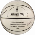 Olympic Collectibles:Autographs, 1996 Olympic Commemorative Basketball Signed by Muhammad Ali andBilly Payne.. ...