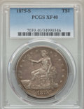 Trade Dollars: , 1875-S T$1 XF40 PCGS. PCGS Population: (34/1323). NGC Census:(12/947). XF40. Mintage 4,487,000. ...