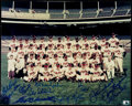 Autographs:Photos, 1957 World Series Champion Milwaukee Braves Multi-Signed Team Photowith Aaron, Mathews, and Spahn.. ...