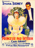 "Movie Posters:Comedy, Thirty Day Princess (Paramount, 1934). French Grande (47"" X 63"") Jacques Bonneau Artwork.. ..."
