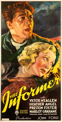"The Informer (RKO, 1935). Three Sheet (40"" X 79"") Frederic C. Madan Artwork"