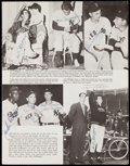 Autographs:Photos, Jackie Robinson and Others Signed Magazine Page with Full LOA from PSA/DNA.. ...