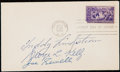 Autographs:Others, 1939 Hall of Fame Signed First Day Cover with Lindstrom, Kelly, andSewell.. ...