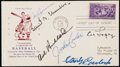 Autographs:Others, 1939 Hall of Fame Signed First Day Cover with Cronin, Chandler, Hubbard, Conlan, Lopez, and Coveleski.. ...
