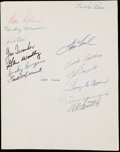 Autographs:Photos, 100 Home Run Club Multi-Signed Sheet.. ...