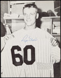 Autographs:Photos, Roger Maris and Others Signed Magazine Page.. ...