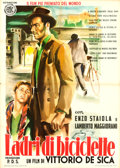 "Movie Posters:Foreign, The Bicycle Thieves (ENIC, R-1955). Italian 2 - Fogli (39"" X 55"") Style B, Ercole Brini Artwork.. ..."