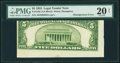 Error Notes:Skewed Reverse Printing, Fr. 1532 $5 1953 Legal Tender Note. PMG Very Fine 20 Net.. ...
