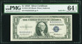 Small Size:Silver Certificates, Solid 2 Serial Fr. 1615 $1 1935F Silver Certificate. PMG Choice Uncirculated 64 EPQ.. ...