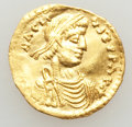 Ancients:Byzantine, Ancients: Heraclius (AD 610-641). AV tremissis (1.44 gm). XF,scratches....