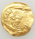 Ancients:Byzantine, Ancients: Heraclius (AD 610-641). AV semissis (2.17 gm). XF,clipped, wrinkled flan, encrustations....