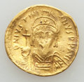 Ancients:Byzantine, Ancients: Justinian I the Great (AD 527-565). AV solidus (3.35 gm).VG, clipped, damaged....