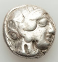 Ancients:Greek, Ancients: ATTICA. Athens. Ca. 440-404 BC. AR tetradrachm (15.90gm). Fine, test cuts, bankers mark, graffito....