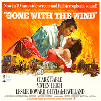 "Gone with the Wind (MGM, R-1967). Six Sheet (80"" X 80"") Howard Terpning Artwork"