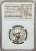 Ancients:Greek, Ancients: PHOENICIA. Aradus. Ca. 138/7-44/3 BC. AR tetradrachm(14.98 gm). NGC Choice XF 5/5 - 4/5....