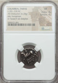 Ancients:Greek, Ancients: CALABRIA. Tarentum. Ca. 272-240 BC. AR stater or didrachm(6.28 gm). NGC VF 4/5 - 4/5....