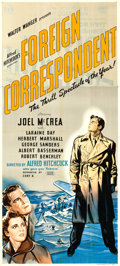"Movie Posters:Hitchcock, Foreign Correspondent (United Artists, 1940). British Three Sheet (39"" X 86"").. ..."