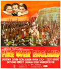 "Movie Posters:Drama, Fire Over England (London Film, 1937). British Six Sheet (78"" X88.25"").. ..."