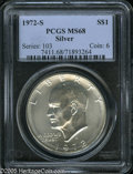 Eisenhower Dollars: , 1972-S $1 Silver MS68 PCGS. ...