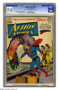 Action Comics #145 (DC, 1950) CGC VF- 7.5 Cream to off-white pages. Al Plastino cover. Plastino, Curt Swan, Ed Smalle, a...