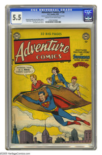Adventure Comics #156 (DC, 1950) CGC FN- 5.5 Cream to off-white pages. Curt Swan cover. Swan, Ralph Mayo, John Daly, and...