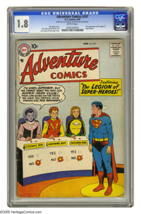 Adventure Comics #247 (DC, 1958) CGC GD- 1.8 Brittle pages. First appearance of the Legion of Super-Heroes. First appear...