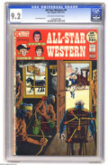 Bronze Age (1970-1979):Western, All-Star Western #9 (DC, 1972) CGC NM- 9.2 Off-white to white pages. Tony DeZuniga cover. Overstreet 2005 NM- 9.2 value = $4...