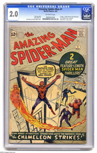 The Amazing Spider-Man #1 (Marvel, 1963) CGC GD 2.0. In terms of Silver Age Marvel books, it's pretty hard to beat this...
