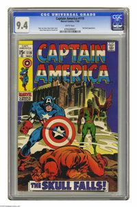 Captain America #119 (Marvel, 1969) CGC NM 9.4 White pages. Red Skull appearance. Gene Colan cover and art. Overstreet 2...