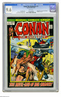 "Bronze Age (1970-1979):Miscellaneous, Conan the Barbarian #17 (Marvel, 1972) CGC NM+ 9.6 White pages.Adapted from (non-Conan) story ""The Gods of Bal-Sagoth"" by R..."