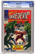 Silver Age (1956-1969):Superhero, Daredevil #28 (Marvel, 1967) CGC NM+ 9.6 Off-white to white pages. Gene Colan cover, and art. Overstreet 2005 NM- 9.2 value ...