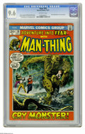 Bronze Age (1970-1979):Horror, Fear #10 (Marvel, 1972) CGC NM+ 9.6 Off-white pages. Beginning ofMan-Thing's first solo series. Gray Morrow cover. Morrow a...